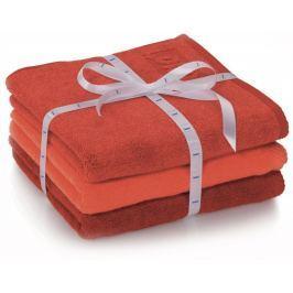 Kela sada 3ks ručníků LADESSA - červená