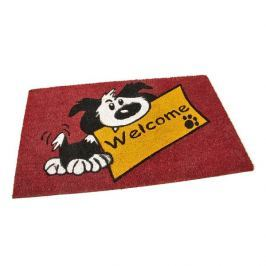 FLOMAT Kokosová vstupní rohož Welcome - Dog - 75 x 45 x 1,7 cm
