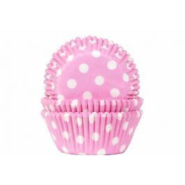 House of Marie Košíčky na muffiny 50ks růžové s bílými puntíky