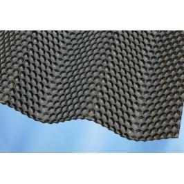 LanitPlast Vlnitý polykarbonát Marlon CSE Diamond VL 76/18 síla 2,6 mm bronz 1,045x2,5 m