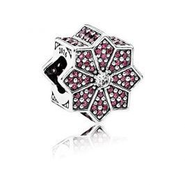 Pandora Luxusní korálek s červenými krystaly USB796800 stříbro 925/1000