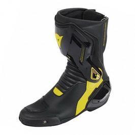 Dainese boty NEXUS vel.42 černá/fluo žlutá, kůže/textil (pár)