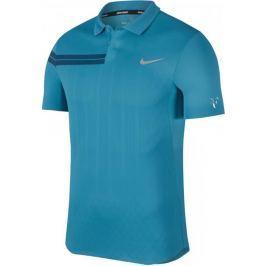 Nike RF M NKCT Adv Polo PS Neo Turq Metallic Silver S
