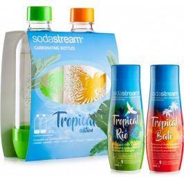 Sodastream Sada 2ks láhví Tropical Edition Ostrov + Příchutě Ananas-Kokos a Mango-Kokos
