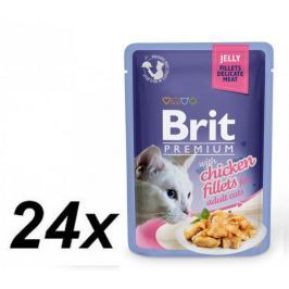 Brit Premium Cat Delicate Fillets in Jelly with Chicken 24 x 85 g