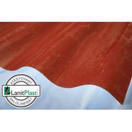 LanitPlast Sklolaminát vlna 130/30 síla 1,2 mm červený 1,0x2,50 m