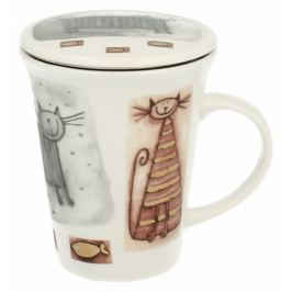 Marex Trade Hrnek na čaj s víčkem CATS 250ml + čajítko