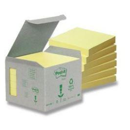 Blok samolepicí Post-it 76 x 76 mm/6 ks recyklované
