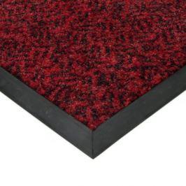 FLOMAT Červená textilní čistící vnitřní vstupní rohož Cleopatra Extra - 80 x 100 x 1 cm