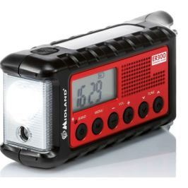 Midland Solární rádio AM/FM s dynamem a LED baterkou
