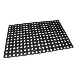 FLOMAT Gumová vstupní čistící rohož na hrubé nečistoty Honeycomb - 80 x 50 x 1,6 cm