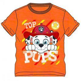 Disney by Arnetta Chlapecké tričko Paw Patrol - oranžové 80
