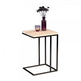 Artenat Odkládací stolek Ragnar, 43 cm, Sonoma dub/černá