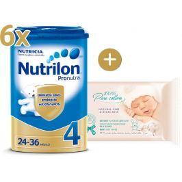 Nutrilon 4 Pronutra - 6×800g + vlhčené ubrousky Onclé SENSITIVE