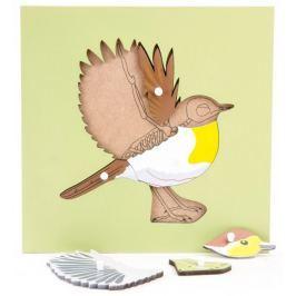 Montessori pomůcky Puzzle s kostrou - pták