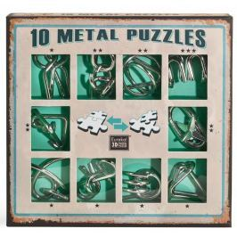 Albi Sada 10 hlavolamů kov - zelená