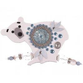 Petra Švarcová Bělostná brož s ornamentem Lední medvěd