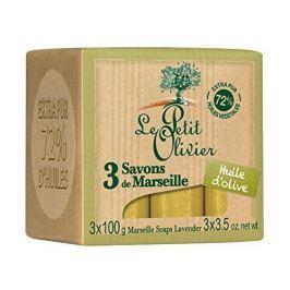 Le Petit Olivier Marseillské mýdlo s olivovým olejem (Marseille Soaps) 3 x 100 g