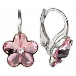 Troli Dívčí stříbrné náušnice Flower Light Rose stříbro 925/1000