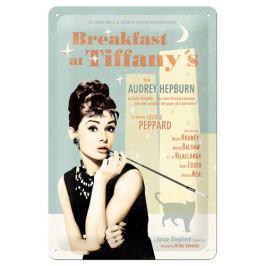 Postershop Plechová cedule 20x30 cm Breakfast at Tiffanys - Audrey Hepburn