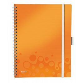 Blok mobilní Leitz WOW A4 linkovaný metalicky oranžový