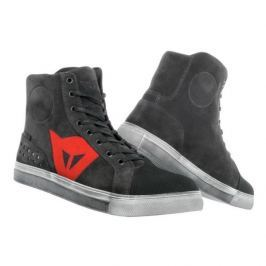 Dainese kotníkové dámské boty STREET BIKER LADY D-WP vel.37 karbon/červená, kůže (pár)