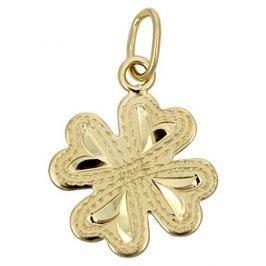 Brilio Zlatý přívěsek čtyřlístek 242 001 00133 - 0,60 g žluté zlato 585/1000