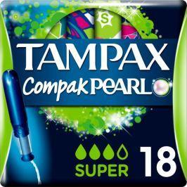 Tampax Compak Pearl Super Tampony s aplikátorem 18ks