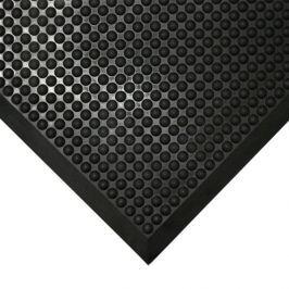 Černá gumová protiúnavová průmyslová rohož - 90 x 60 x 1,5 cm