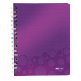 Blok na psaní Leitz WOW A5 čtverečkovaný purpurový