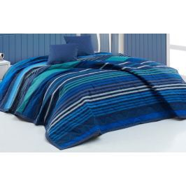 BedTex Přehoz Marley Modrý 220x240 + 2x40x40 cm