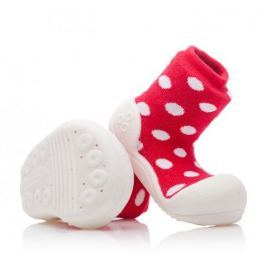Attipas dětské botičky Polka Dot Red 19 červená