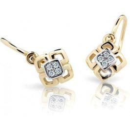 Cutie Jewellery Dětské náušnice C2240-10-X-1 (Barva růžová) zlato bílé 585/1000
