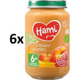 Hami BIO s broskví a banány - 6 x 200g