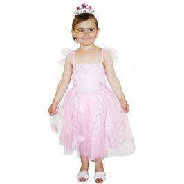 Rappa Kostým princezna růžová XS