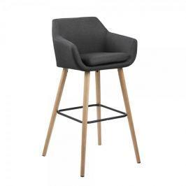 Design Scandinavia Barová židle Marte (SET 2 ks), tm. šedá