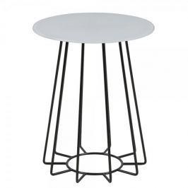 Design Scandinavia Konferenční / noční stolek Goldy, 50 cm, černá/bílá