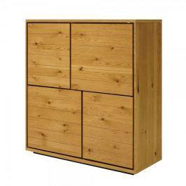 Danish Style Skříň s 4 dveřmi Dayton, 123 cm, divoký dub
