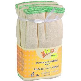 XKKO Skládané bavlněné pleny Natural - Premium