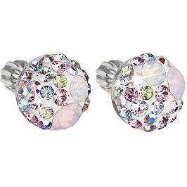 Evolution Group Něžné náušnice krystaly Magic Rose 31136.3 stříbro 925/1000
