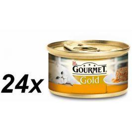 Gourmet Gold Savoury Cake S kuřetem a mrkví 24 x 85g