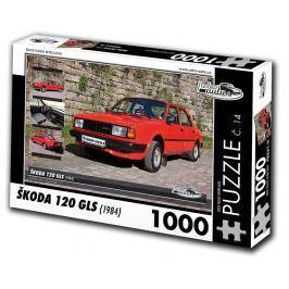 RETRO-AUTA© Puzzle č. 14 - ŠKODA 120 GLS (1984) 1000 dílků