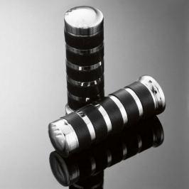 Highway-Hawk gripy 25mm  COMFORT, chrom/černá (2ks)