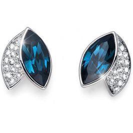 Oliver Weber Elegantní náušnice s modrými krystaly Leaf 22686 BLU