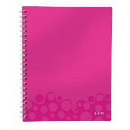 Blok organizační Leitz WOW A4  linkovaný metalicky růžový