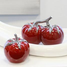 Papillon Keramická dekorace 2 rajčata Deep Red, 16,5 cm
