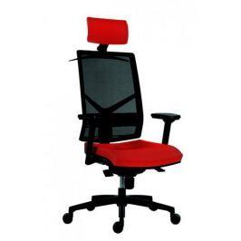 Kancelářská židle Omnia s opěrkou hlavy červená