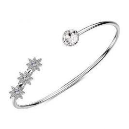 Brosway Otevřený náramek s krystaly Affinity G9AF14 (Průměr 60 mm) stříbro 925/1000