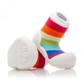 Attipas dětské botičky Rainbow White 19 vícebarevná