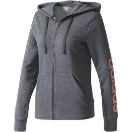 Adidas ESS Linear Full Zip Hoodie Dark Grey Heather XS